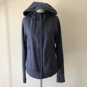 Lululemon After Asana Hoodie Zip Up Cadet Blue 8